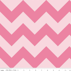 Large Chevron Tone on Tone in Hot Pink