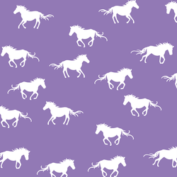 Horse Silhouette in Amethyst