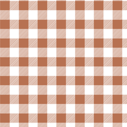 Medium Buffalo Plaid in Terracotta