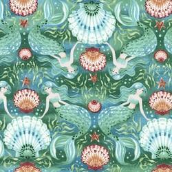 Mermaid Kaleidoscope in Teal