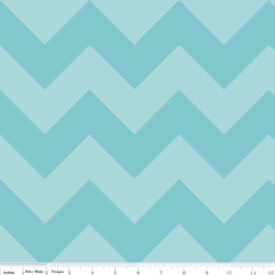 Large Chevron Tone on Tone in Aqua