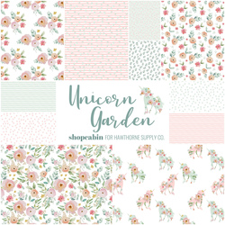 Unicorn Garden Fat Quarter Bundle Little Scale