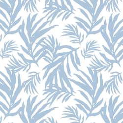 Palm Leaves in Blue