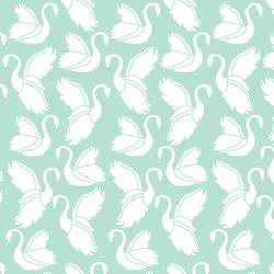 Swan Silhouette in Aloe