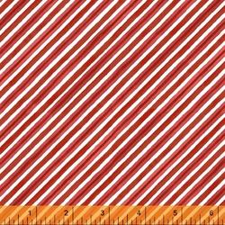 Winter Diagonal Stripe in Red