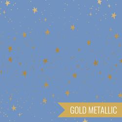 Stars in Periwinkle Metallic