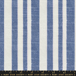 Woven Texture Stripe in Bluebell