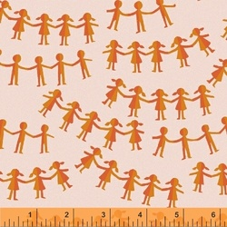 Paper Dolls in Pink Orange