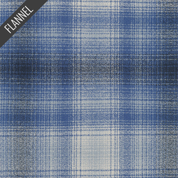 Mammoth Wide Bold Flannel in Blue