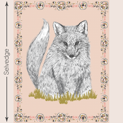 Foxy Loxy Quilt Panel in Harvest