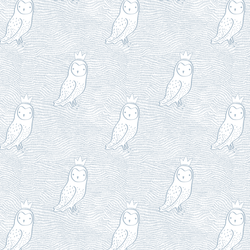Small Crowned Owl in Cashmere Blue