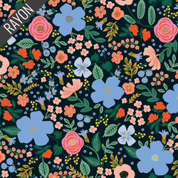 Wild Rose Rayon in Black