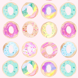 Donuts in Light Pink