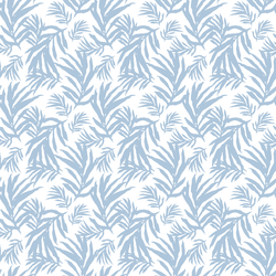 Little Palm Leaves in Blue