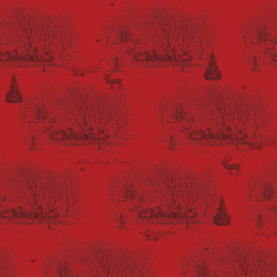 Sleigh Toile in Red