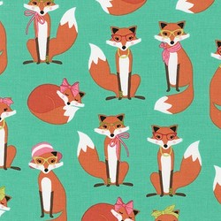 Madam Foxes in Aqua