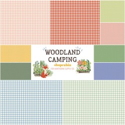 Woodland Camping Fat Quarter Bundle in Gingham