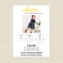 Lilas Blouse, Top and Dress Trio - Girls