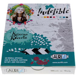 Aurifil Kit in Indelible Small Spools by Katarina Roccella