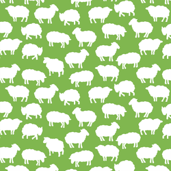 Sheep Silhouette in Greenery
