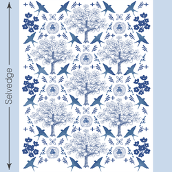 Quilt Panel in Blue Jay