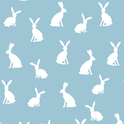 Cottontail Silhouette in Bluebell