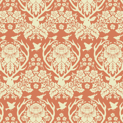 Little Antler Damask in Tiger Lily