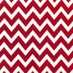 Large Zig Zag Stripe in Red