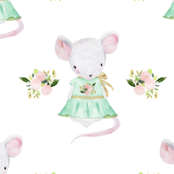 Lila the Mouse in Spring