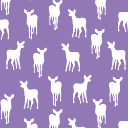 Fawn Silhouette in Amethyst
