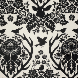 Antler Damask in Black