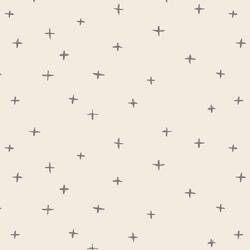 Swiss Crosses in Silver Filigree Gray on Egret