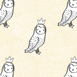 Crowned Owl in Sunny Yellow