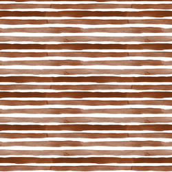 Watercolor Stripes in Deep Brown
