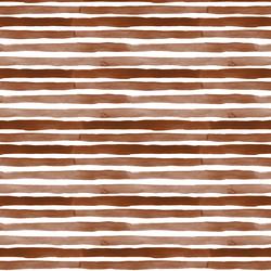 Watercolor Stripes in Deep Brown
