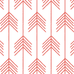 Vanes in Living Coral on White