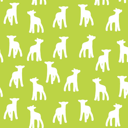 Lamb Silhouette in Lime
