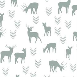 Deer Silhouette in Eucalyptus in White