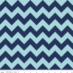 Medium Chevron Tone on Tone in Navy