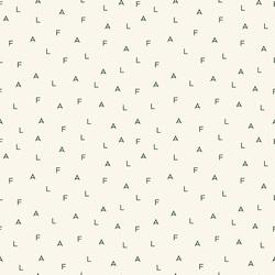 Fa La Letters in Cream