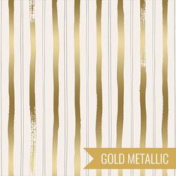 Stripes in Gold Metallic