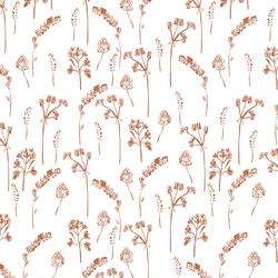Pressed Flowers in Terracotta