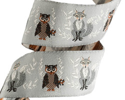 Fox and Owl in Grey