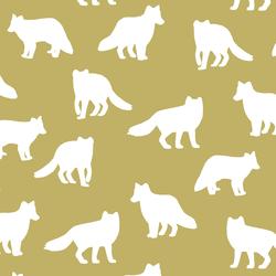 Fox Silhouette in Brass