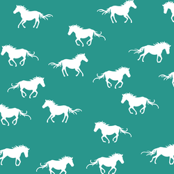 Horse Silhouette in Jade