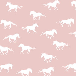 Horse Silhouette in Blush