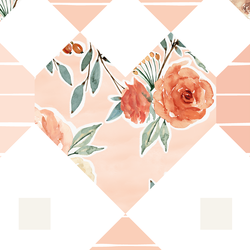 Large Patchwork in Barely Blush