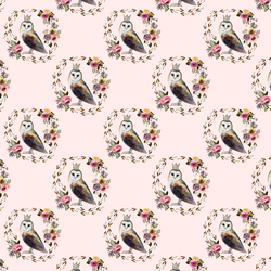 Little Cambridge Owl in Soft Blush