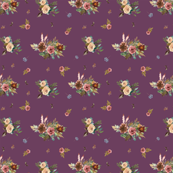 Small Fall Floral in Plum