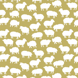 Sheep Silhouette in Brass